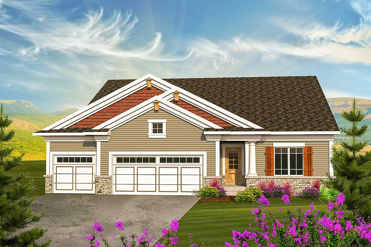 Classic craftsman ranch house plan 89908ah - What is a ranch house ...