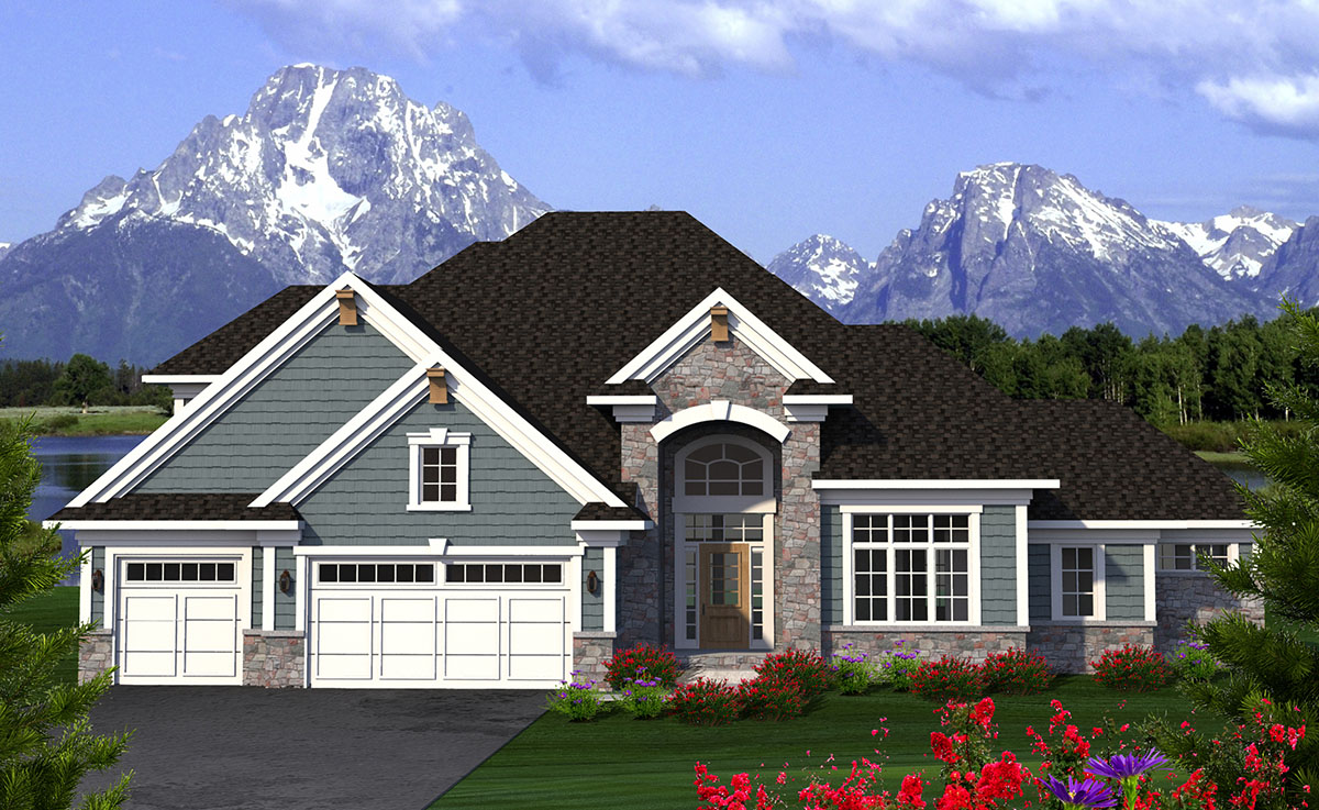 2 Story Arch-Topped Entry - 89971AH   Architectural ...