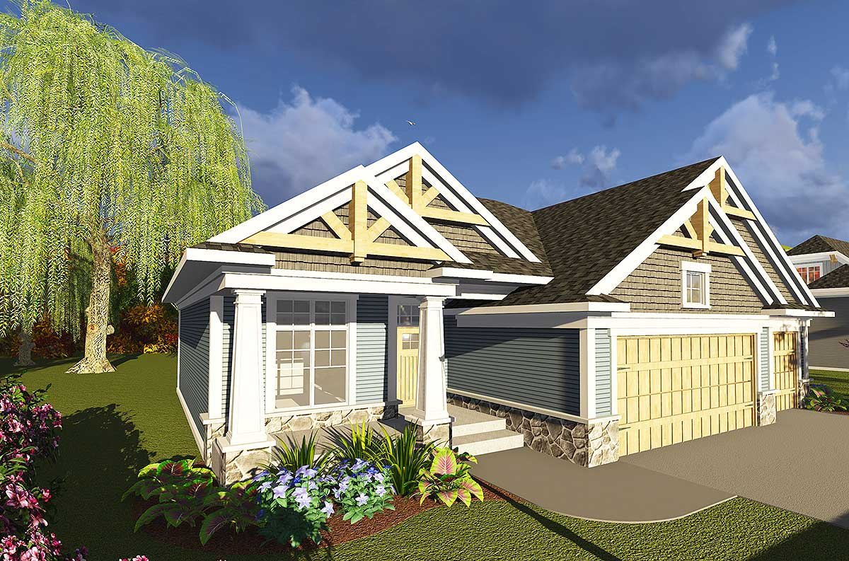 3 Bed Craftsman Ranch With Open Concept Floor Plan