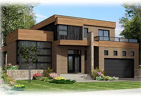 Roof Deck on Contemporary Home Plan - 90231PD ... on Modern House Ideas  id=41054