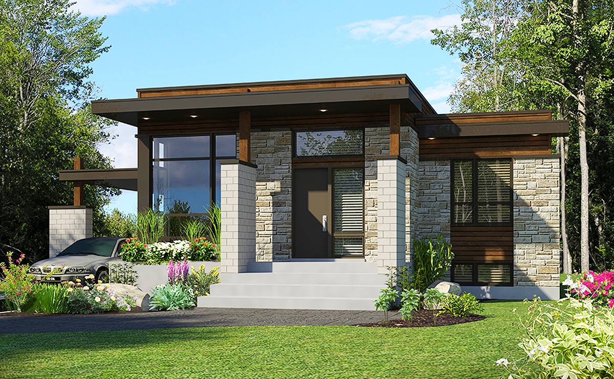 Compact Modern House Plan - 90262PD | Architectural ...