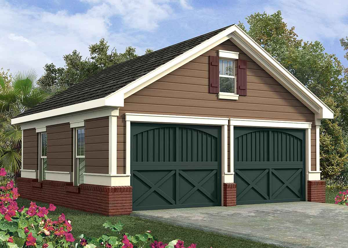Simple Two Car Garage - 92048VS | Architectural Designs ...