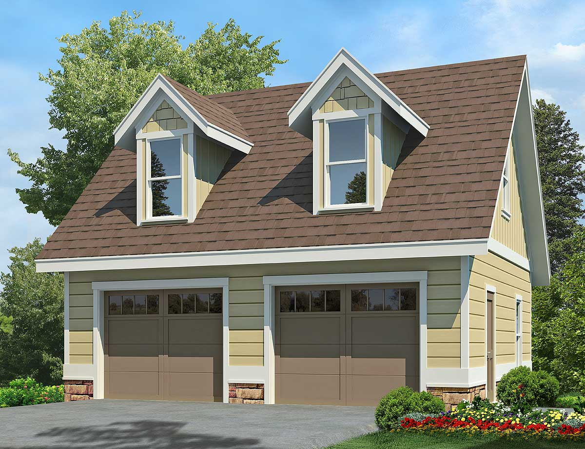 2-Car Garage With Dormers - 92081VS