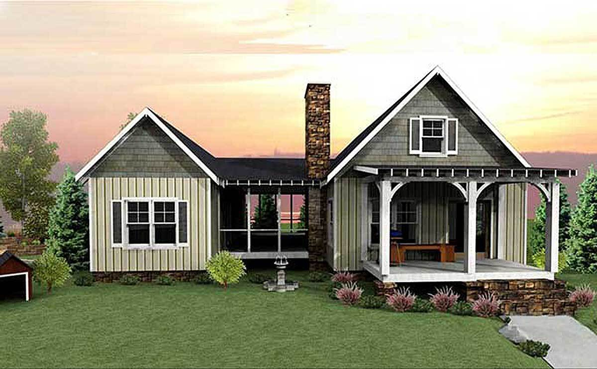 3 Bedroom Dog Trot House Plan 92318mx Architectural Designs House Plans