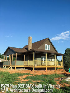 House Plan 92318MX gets modified and built in Virginia - photo 002