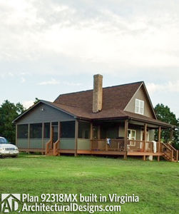 House Plan 92318MX gets modified and built in Virginia - photo 004