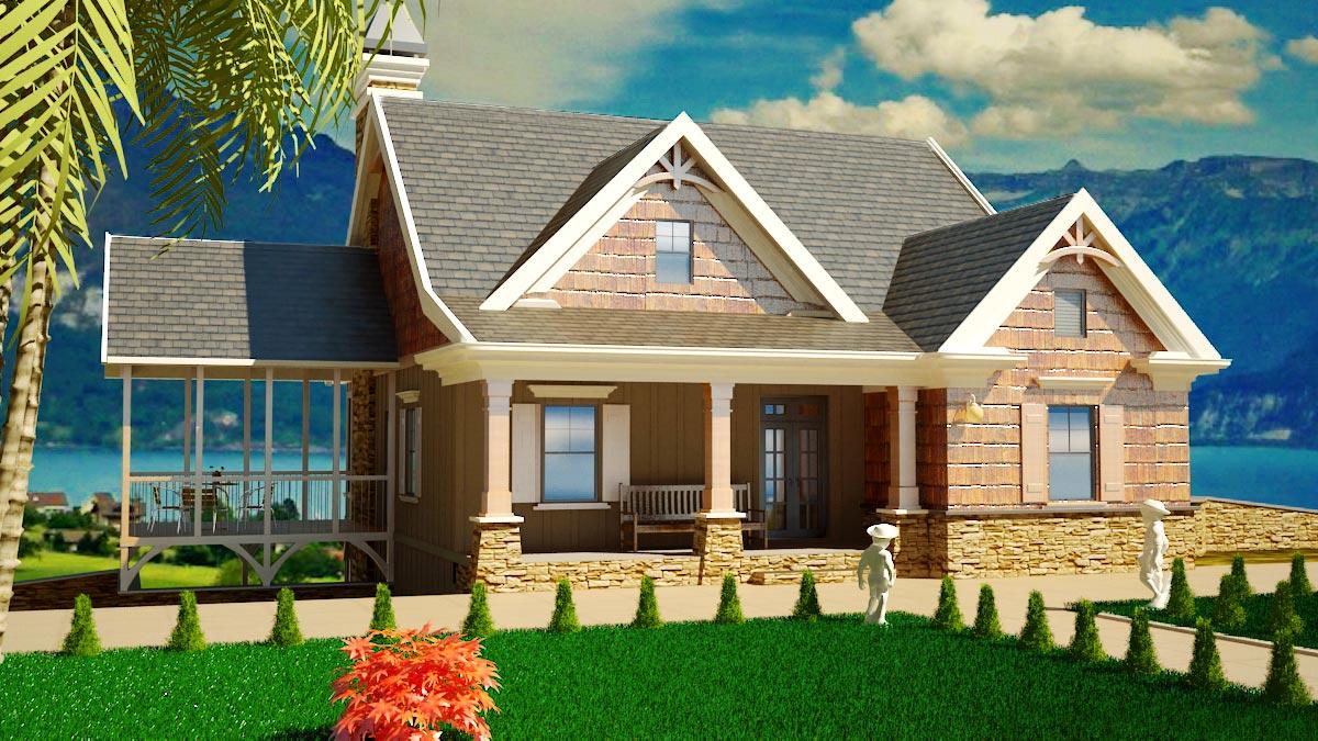 Tiny Home Designs: Informal Vacation Home Plan - 92334MX