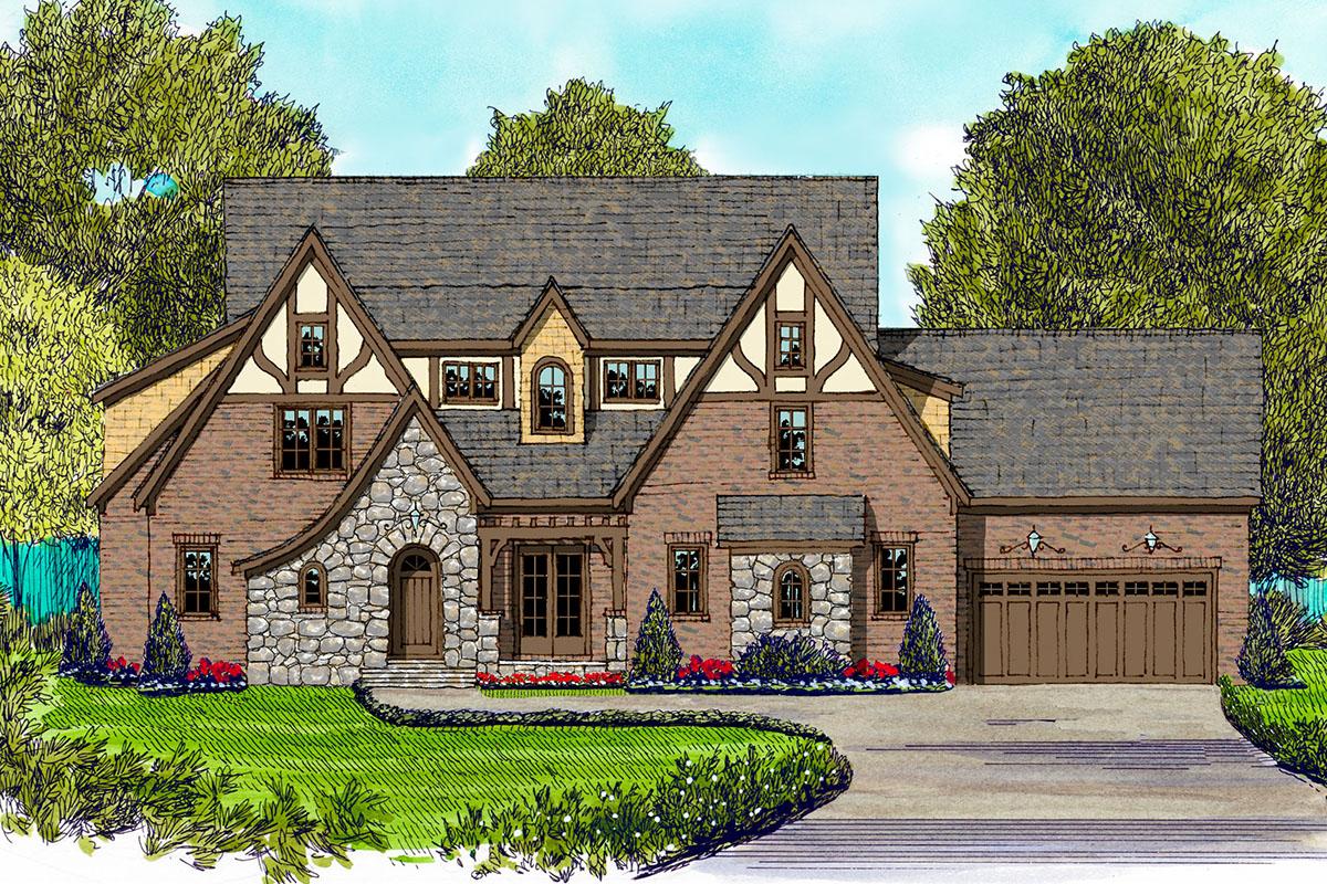 English Manor Tudor Style Home 93019el Architectural
