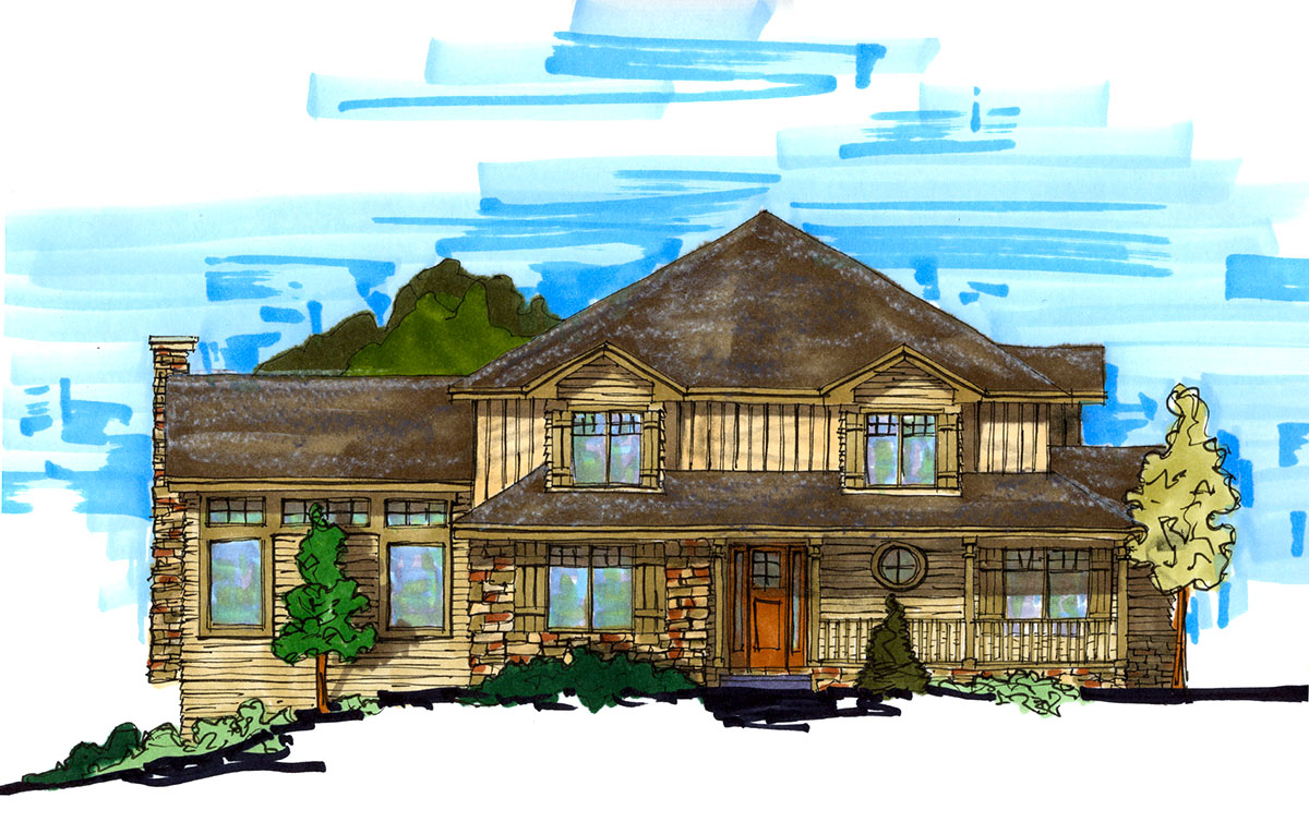 Rustic Craftsman Home Plan - 9507RW | Architectural ...