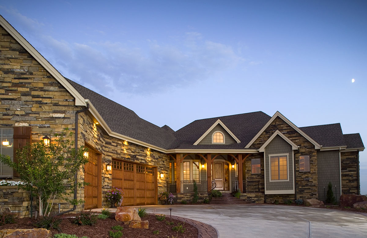 Craftsman Home With Angled Garage 9519rw Architectural Designs