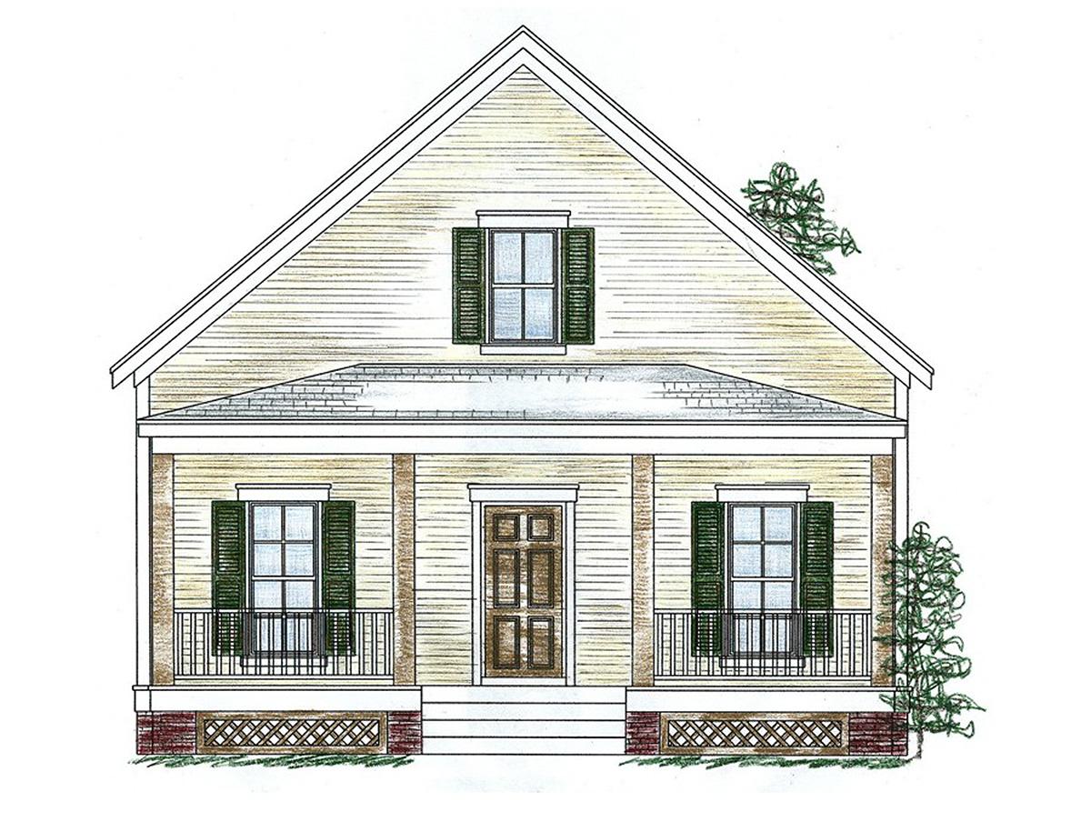 Three Bedroom Cottage - 9754AL | Architectural Designs ...