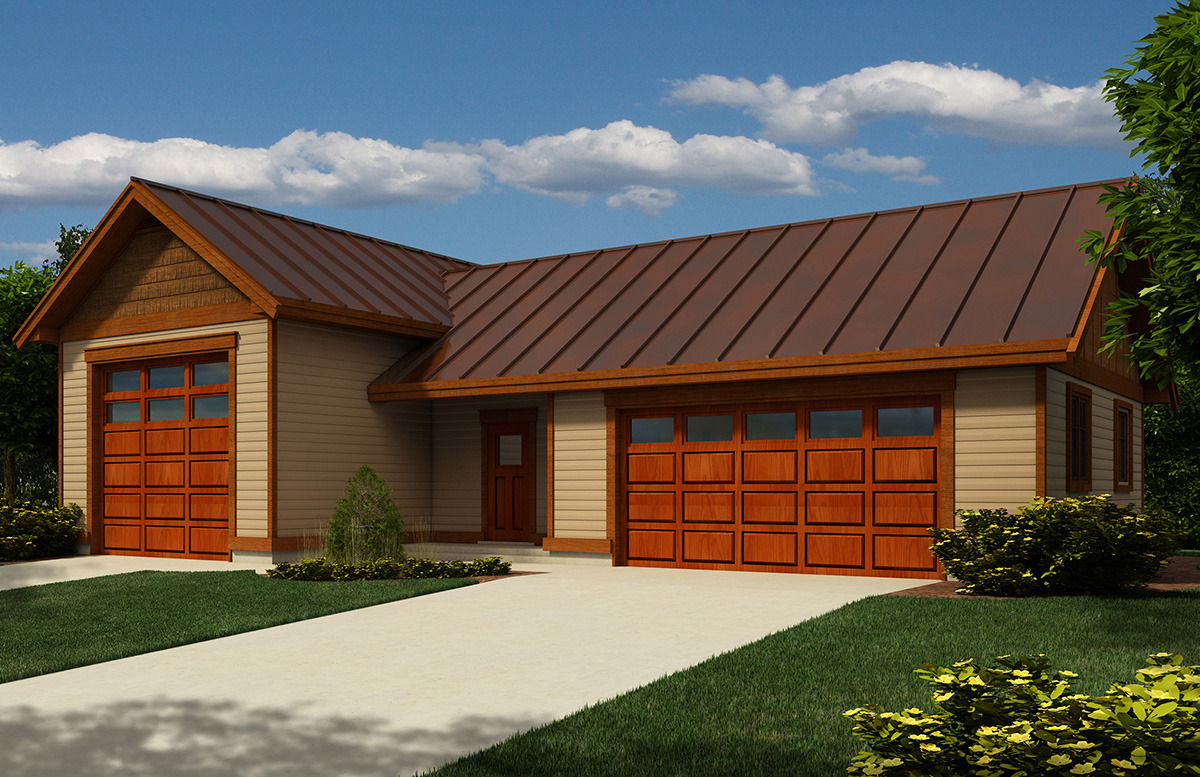 RV Garage with Metal Roof - 9826SW | Architectural Designs ...